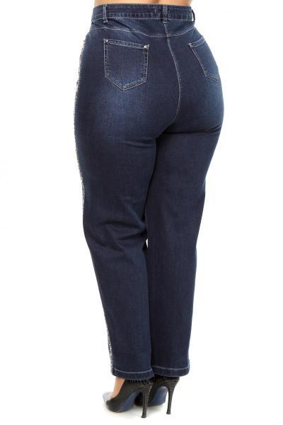 Артикул 659135 - джинсы большого размера - вид сзади