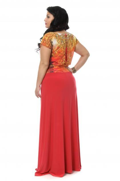 Артикул 108037(109269) - платье  большого размера - вид сзади