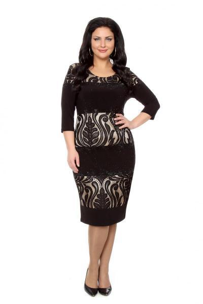 Артикул 216647 - платье  большого размера