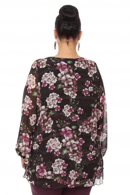 Артикул 15242 - блузка  большого размера - вид сзади