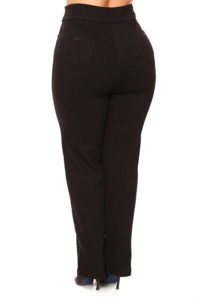 Артикул 839090 - брюки большого размера - вид сзади