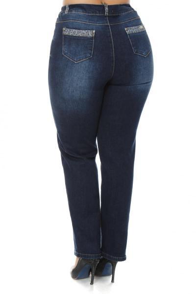 Артикул 202380 - джинсы  большого размера - вид сзади
