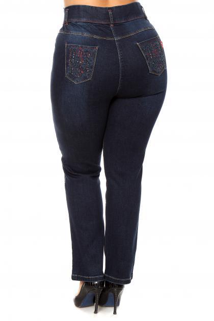 Артикул 204043 - джинсы большого размера - вид сзади