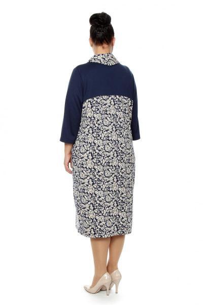 Артикул 16378 - платье большого размера - вид сзади