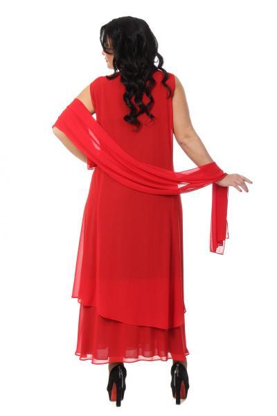 Артикул 000064 - платье  большого размера - вид сзади