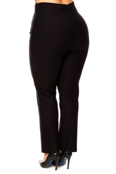 Артикул 200590 - брюки моделирующие большого размера - вид сзади