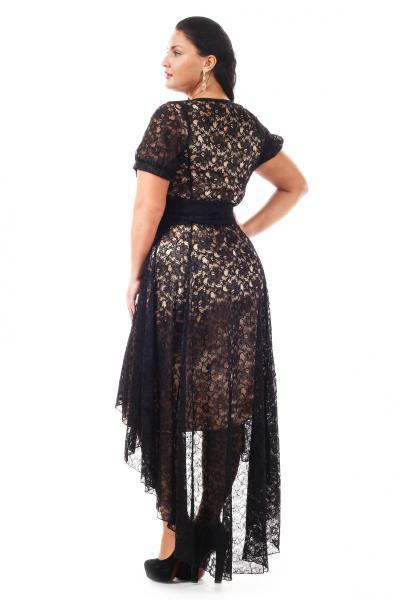 Артикул 15338 - платье большого размера - вид сзади