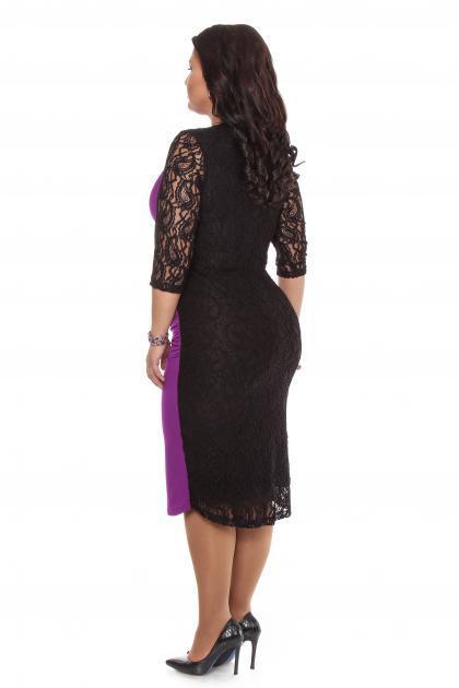 Артикул 15332 - платье  большого размера - вид сзади