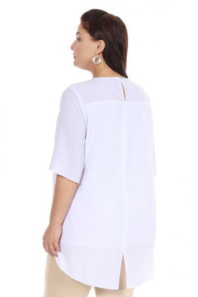Артикул 16235 - блузка большого размера - вид сзади