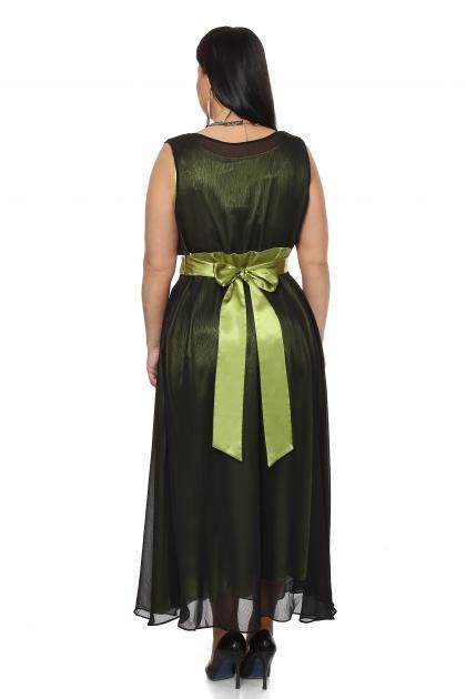 Артикул 12132 - платье  большого размера - вид сзади