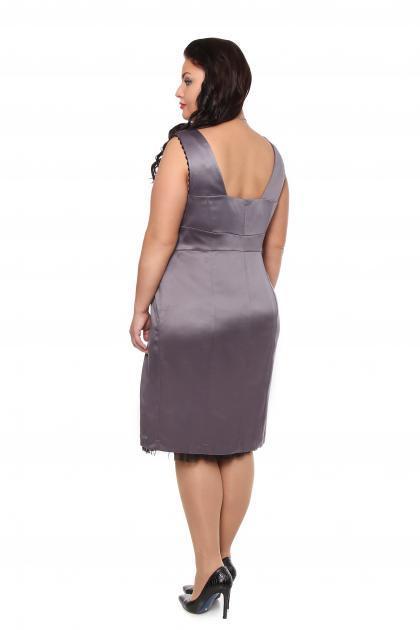 Артикул 12131 - платье большого размера - вид сзади
