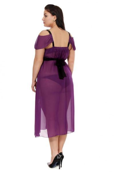 Артикул 16335 - сорочка большого размера - вид сзади