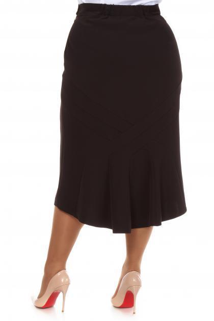 Артикул 16413 - юбка большого размера - вид сзади