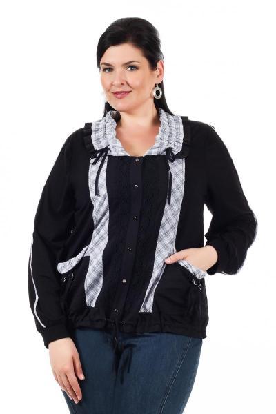 Артикул 006327 - жакет куртка облегченная большого размера