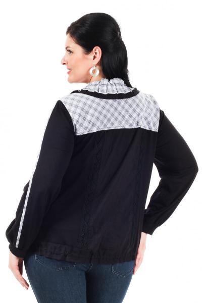 Артикул 006327 - жакет куртка облегченная большого размера - вид сзади