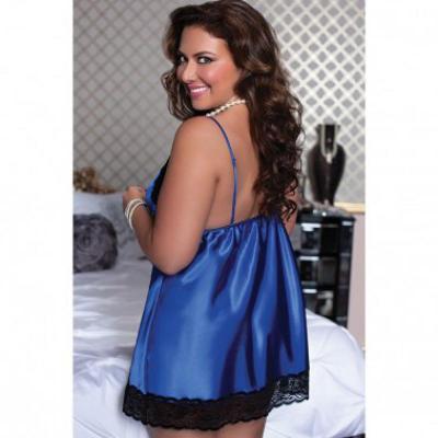 Артикул 9721 - сорочка эротическая большого размера - вид сзади