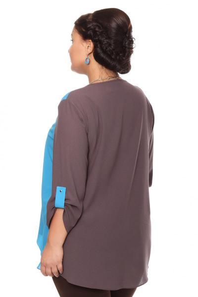 Артикул 16211 - блузка большого размера - вид сзади