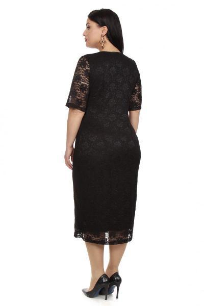 Артикул 16341 - платье большого размера - вид сзади