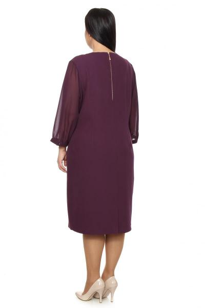 Артикул 209557 - платье большого размера - вид сзади