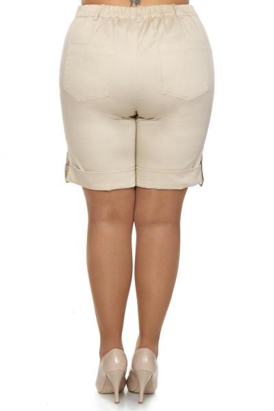 Артикул 14593 - шорты большого размера - вид сзади