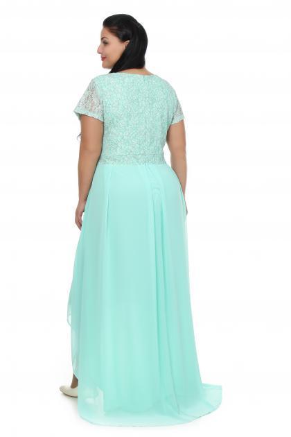 Артикул 109266 - платье  большого размера - вид сзади