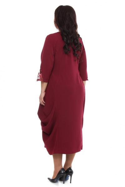 Артикул 16322 - платье  большого размера - вид сзади