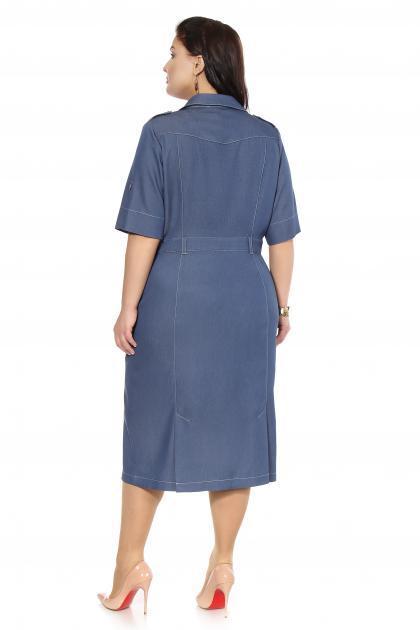 Артикул 16337 - платье большого размера - вид сзади