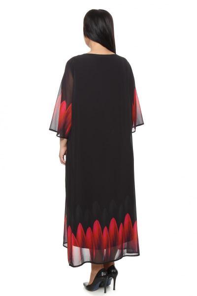Артикул 265026 - платье  большого размера - вид сзади