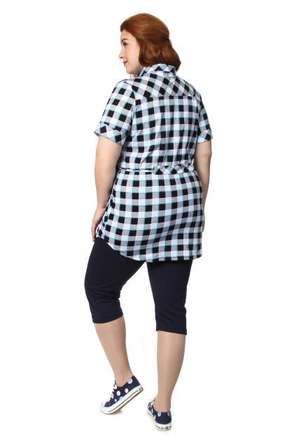 Артикул 226 - рубашка  большого размера - вид сзади