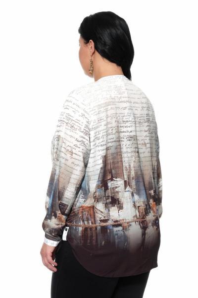 Артикул 309405 - блуза большого размера - вид сзади