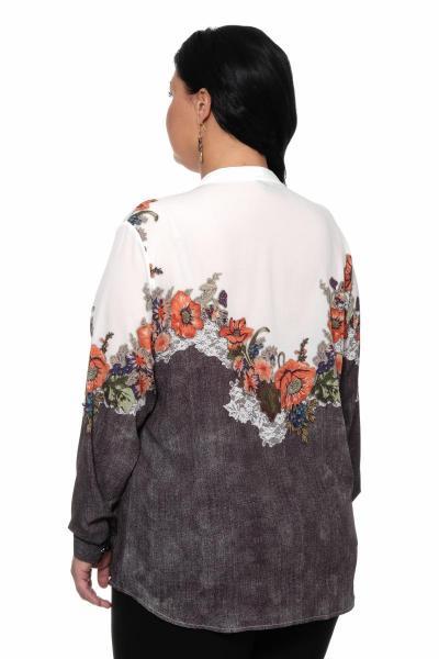 Артикул 309408 - блуза большого размера - вид сзади