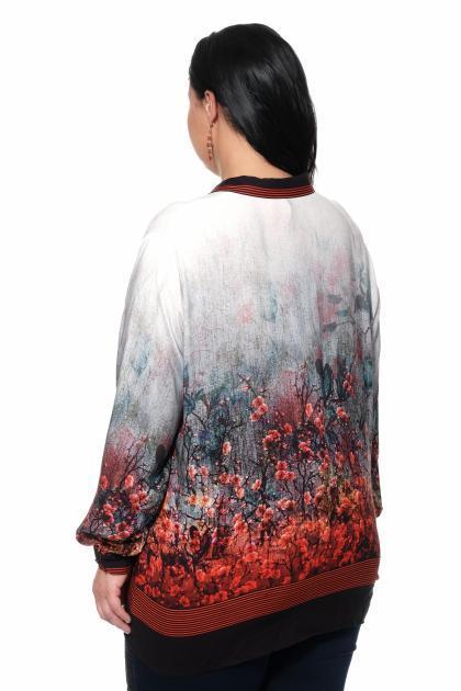 Артикул 309431 - блуза большого размера - вид сзади