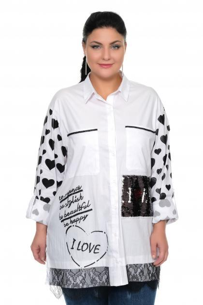 Артикул 300186 - блуза большого размера