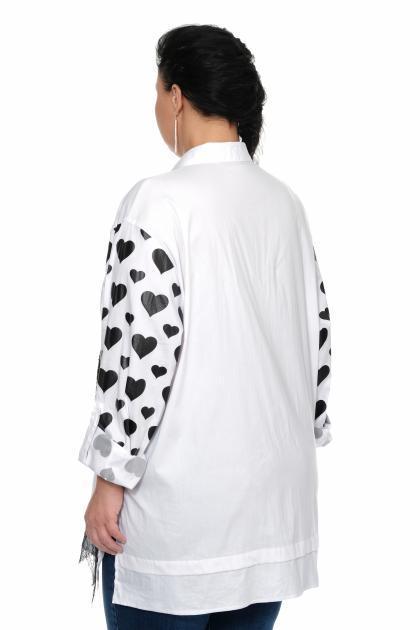 Артикул 300186 - блуза большого размера - вид сзади