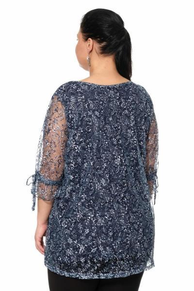 Артикул 300014 - блуза большого размера - вид сзади