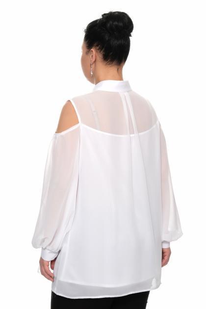 Артикул 17251 - блуза большого размера - вид сзади