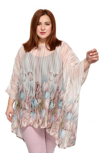 ca1b90315f2 Блузки и туники больших размеров с коротким рукавом в Москве - Купить блузку  или тунику