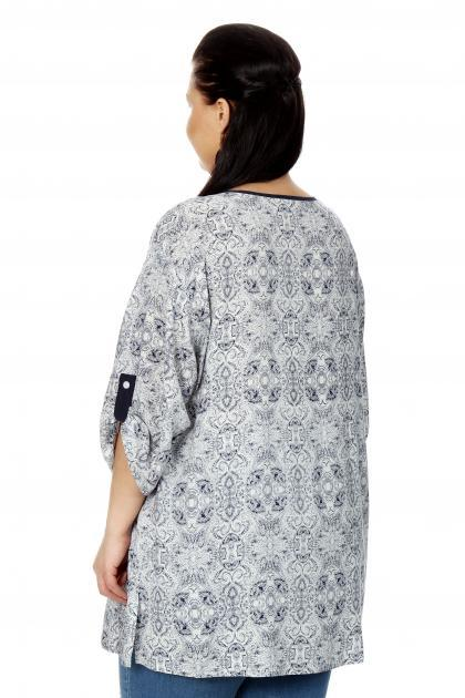 Артикул 17213 - блузка  большого размера - вид сзади