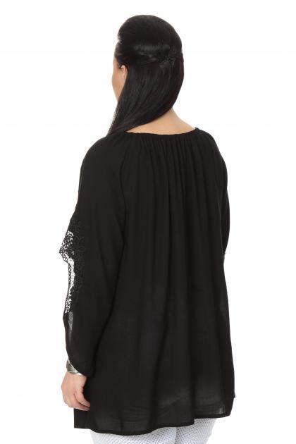 Артикул 16238 - блузка  большого размера - вид сзади