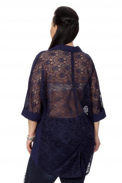 Артикул 17212 - блузка  большого размера - вид сзади