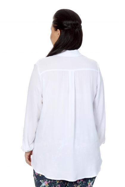 Артикул 16275 - блузка большого размера - вид сзади