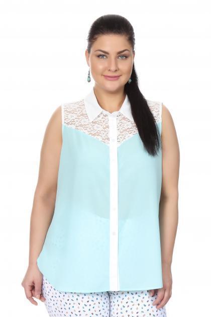 Артикул 17214 - блузка  большого размера