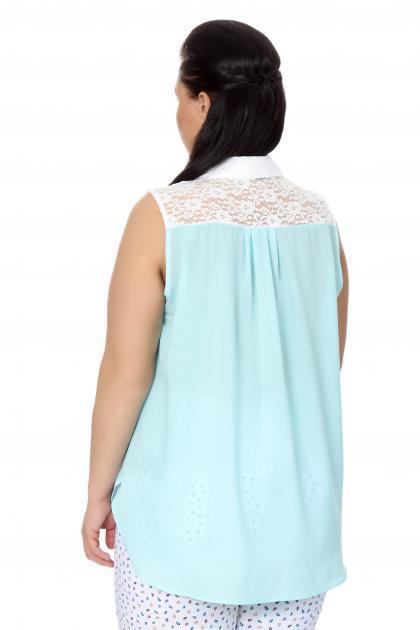 Артикул 17214 - блузка  большого размера - вид сзади