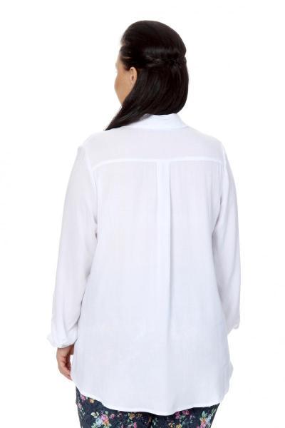 Артикул 17211 - блузка  большого размера - вид сзади