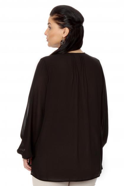 Артикул 17216 - блузка  большого размера - вид сзади