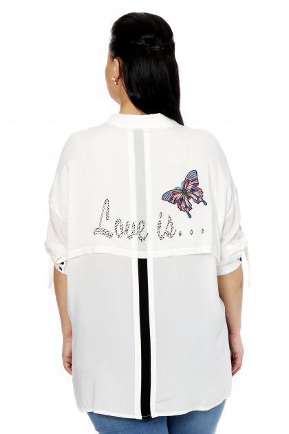 Артикул 334547 - блузка большого размера - вид сзади