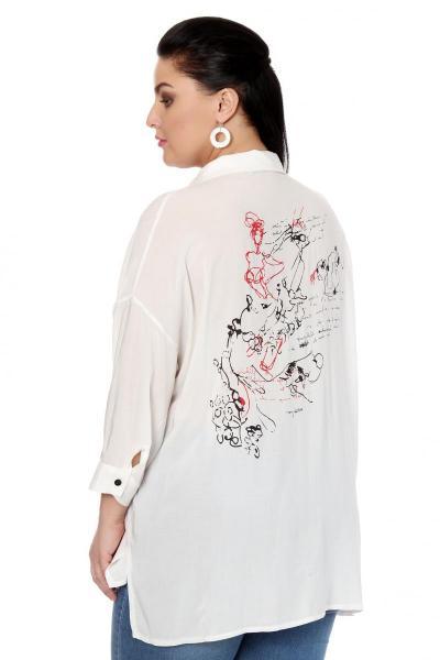 Артикул 334538 - блузка большого размера - вид сзади