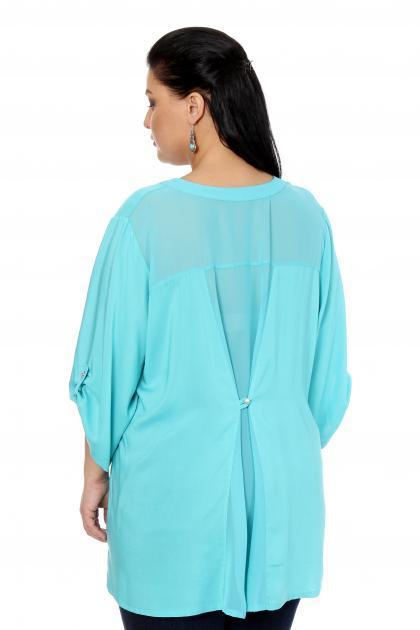 Артикул 17217 - блузка большого размера - вид сзади
