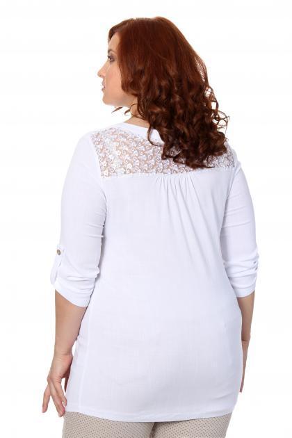 Артикул 17219 - блузка большого размера - вид сзади
