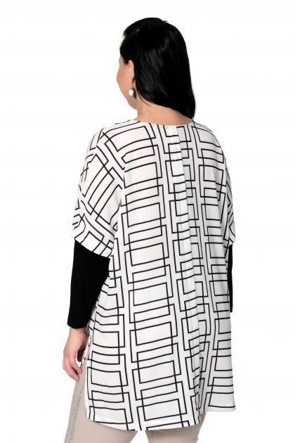 Артикул 306897 - блузка большого размера - вид сзади